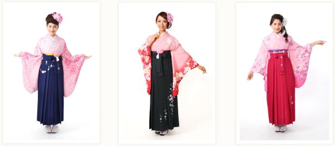 ピンクの袴を宅配レンタルする一例