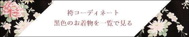 レンタル袴の黒色コーディネートを一覧で見る